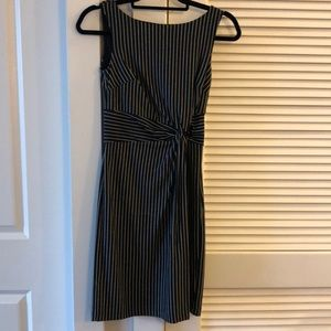 Ann Taylor Striped Dark Navy Dress